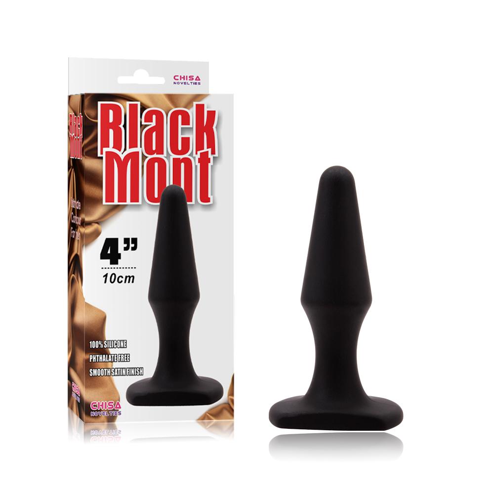 Черная силиконовая анальная пробка - 10,5 см.