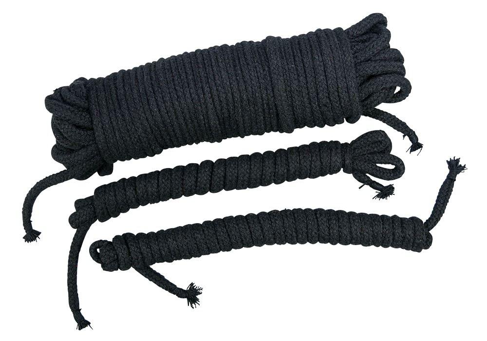Чёрные хлопковые верёвки для бондажа 2490307 1001 от Orion
