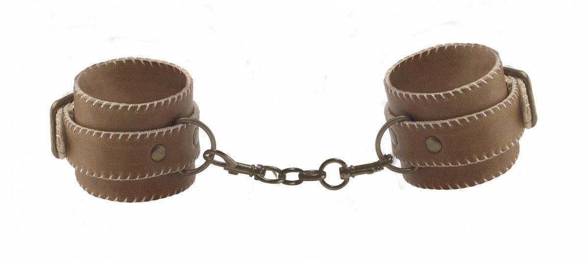 Кожаные наручники OUCH! Brown