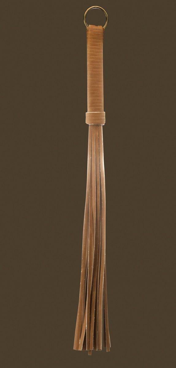 Коричневая кожаная плетка - 54 см.