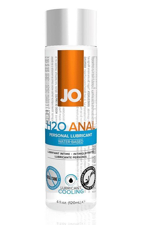 Анальный охлаждающий и обезболивающий лубрикант на водной основе JO Anal H2O COOLING - 120 мл.