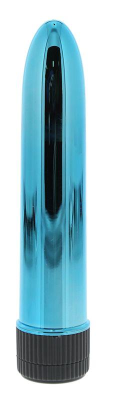 Голубой гладкий вибромассажёр KRYPTON STIX 5 MASSAGER M/S BLUE - 12,7 см.
