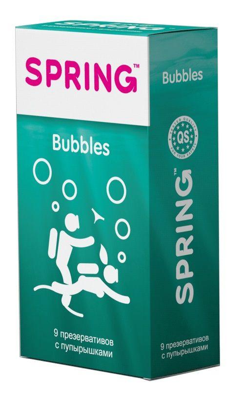 Презервативы SPRING BUBBLES с пупырышками - 9 шт. SPRING BUBBLES №9 от SPRING