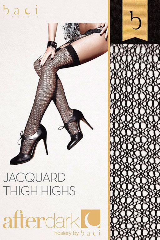 Жаккардовые чулки Jacquard Thigh High