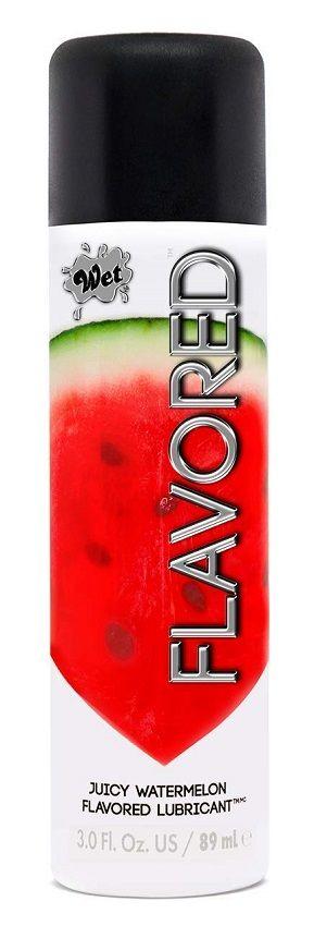 Лубрикант Wet Flavored Juicy Watermelon с ароматом арбуза - 106 мл.