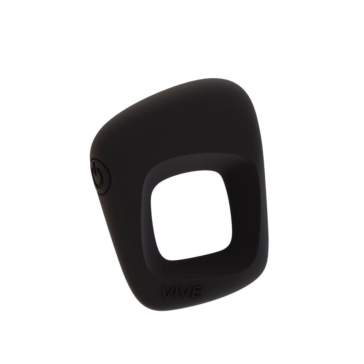 Черное эрекционное вибрирующее кольцо Senca