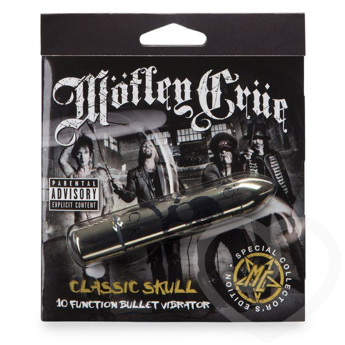 Золотистая вибропуля Motley Crue Classic Scull