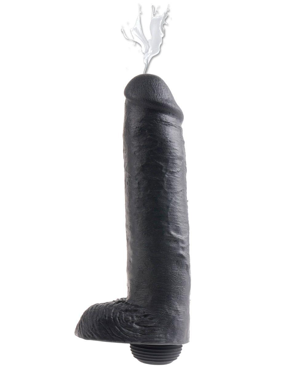 Фаллоимитатор-реалистик с имитацией семяизвержения 11  Squirting Cock with Balls - 27,9 см.