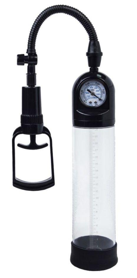 Чёрная вакуумная помпа A-toys с манометром и прозрачной колбой 768001-5 от A-toys