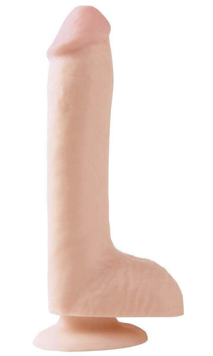 Телесный фаллоимитатор на присоске 8  Dong with Suction Cup - 21,6 см.