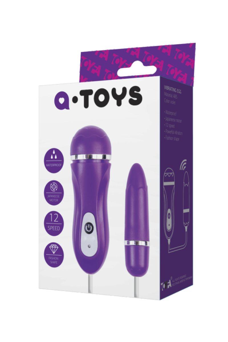 Фиолетовое виброяйцо с выносным пультом управления 761009 от A-toys