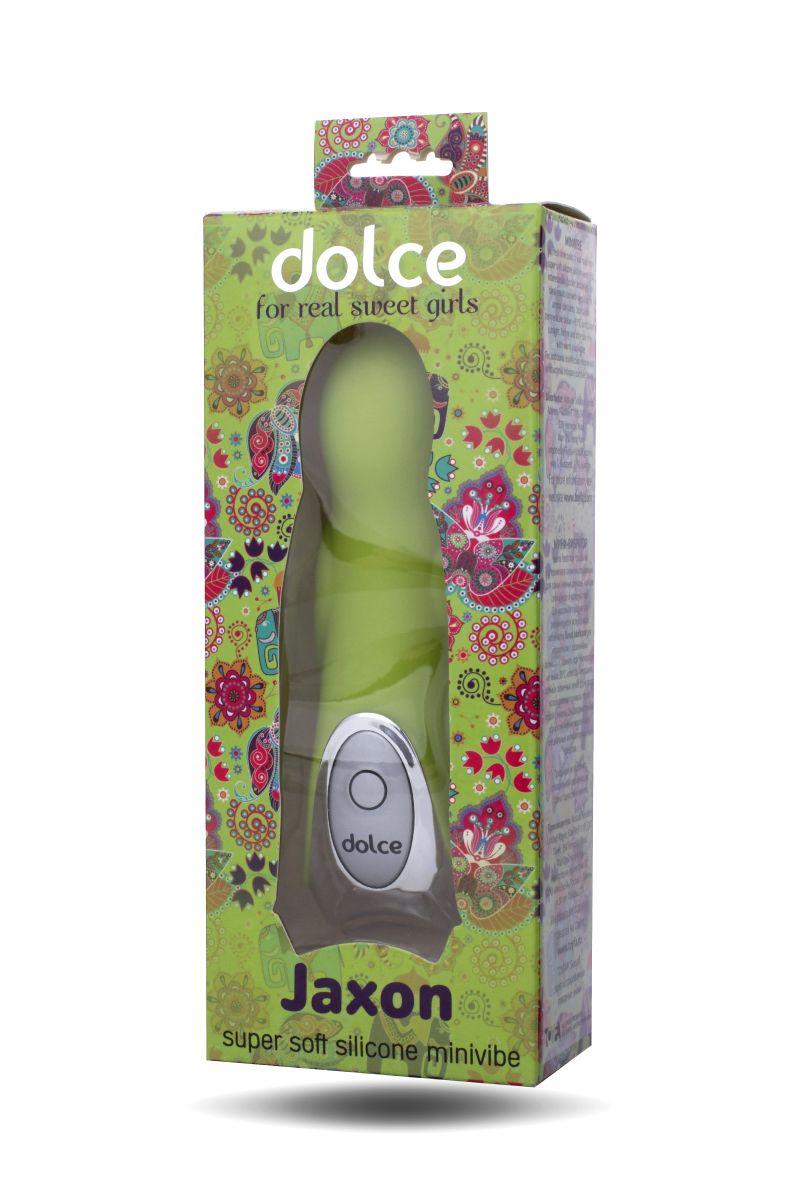 Нежно-зелёный вибратор Dolce Jaxon - 12,5 см. 591004 от ToyFa