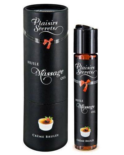 Массажное масло с ароматом крем брюле Huile de Massage Gourmande Creme Brulée - 59 мл.
