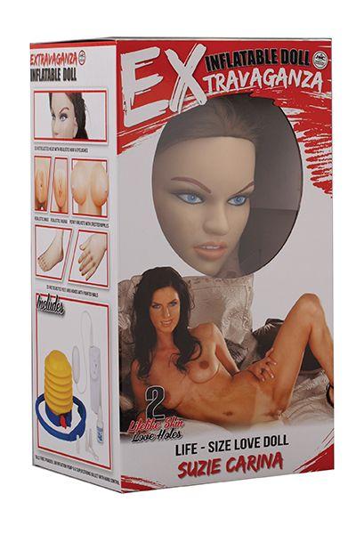 Надувная кукла с реалистичным личиком EXTRAVAGANZA SUZIE CARINA