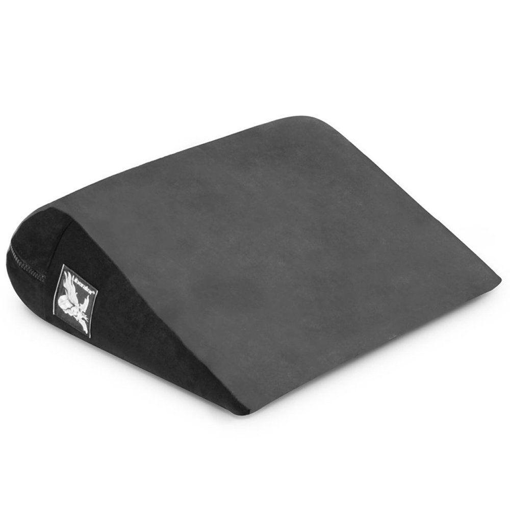 Чёрная малая замшевая подушка для любви Liberator Retail Jaz