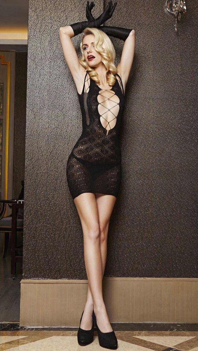 Ажурное секси-платье Dolce Piccante со шнуровками