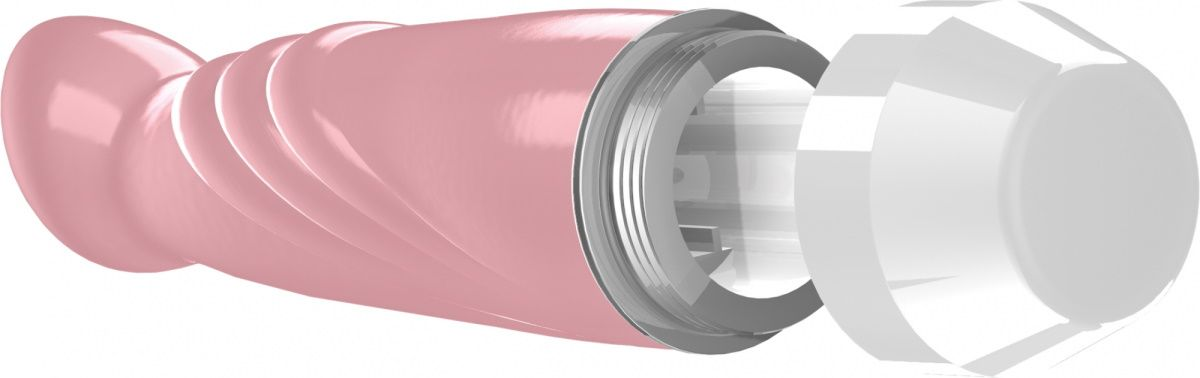 Розовый вибратор Livvy со скошенной головкой - 15,5 см.