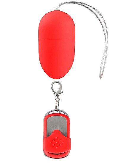 Красное виброяйцо 10 Speed Remote Vibrating Egg Medium с пультом ДУ