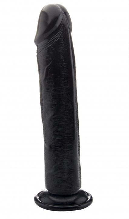Чёрный фаллоимитатор-гигант Realistic Cock 13,4 Inch No Scrotum - 34 см.