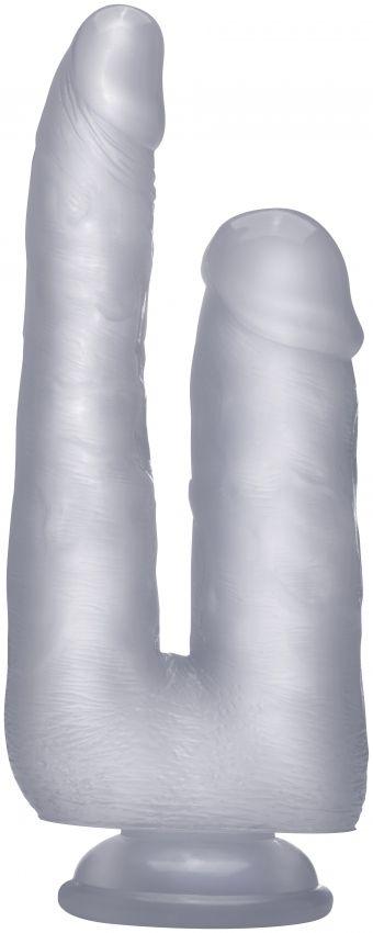 Прозрачный анально-вагинальный фаллоимитатор Realistic Double Cock 9 Inch - 23 см.