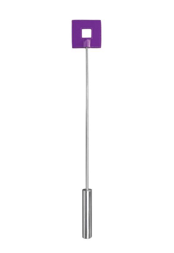 Фиолетовая шлёпалка Leather Square Tiped Crop с наконечником-квадратом - 56 см. OU016PUR от Shots Media BV