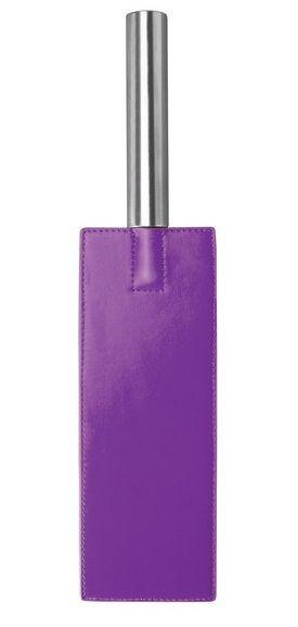 Фиолетовая прямоугольная шлёпалка Leather Paddle - 35 см. OU020PUR от Shots Media BV