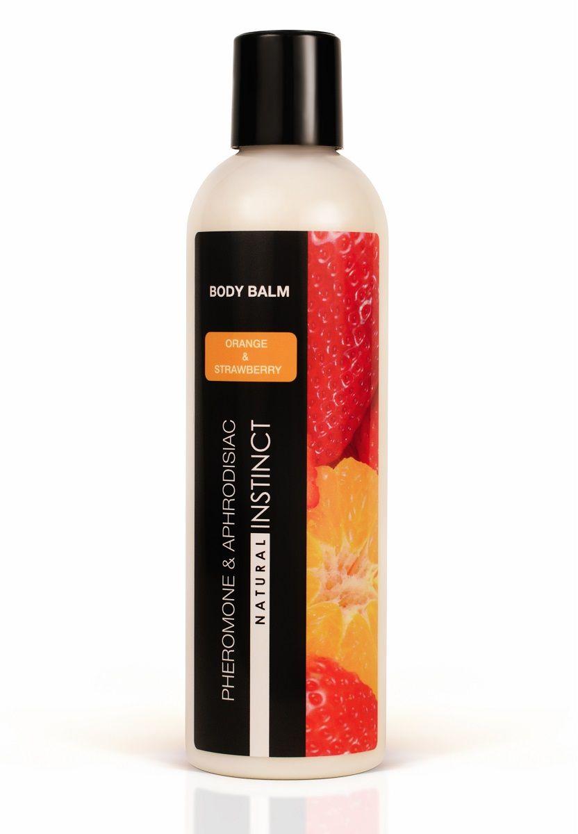 Бальзам для тела с феромонами Natural Instinct с ароматом клубники и апельсина - 250 мл.