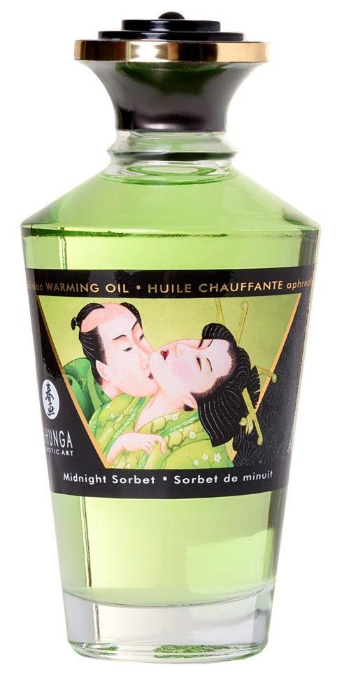 Массажное интимное масло с ароматом щербета - 100 мл.