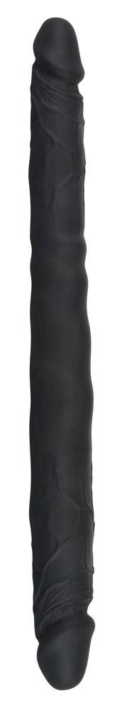 Чёрный двусторонний фаллоимитатор Double Dong Black - 40 см.
