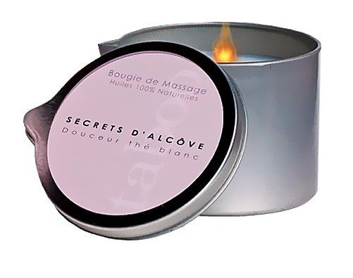 Массажная свеча Taboo Secret d Alcove с ароматом белого чая - 165 гр.