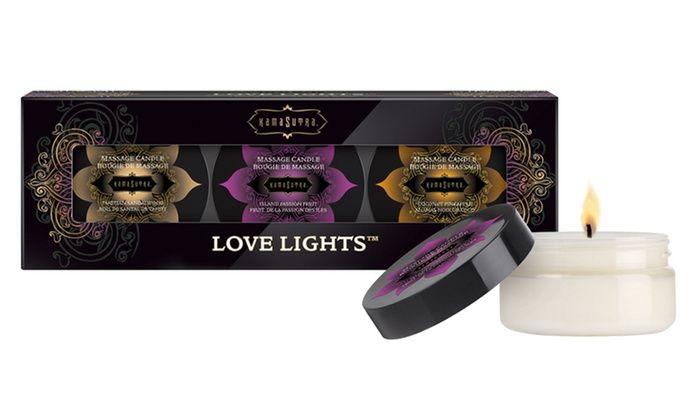 Набор из 3 массажных свечек KamaSutra Love Lights