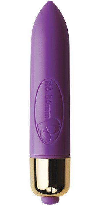 Фиолетовая вибропулька RO-80mm с 7 режимами вибрации - 7,9 см.