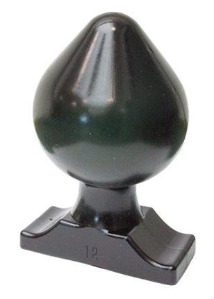 Огромная анальная пробка All Black Raymond Butt Plug - 22 см.