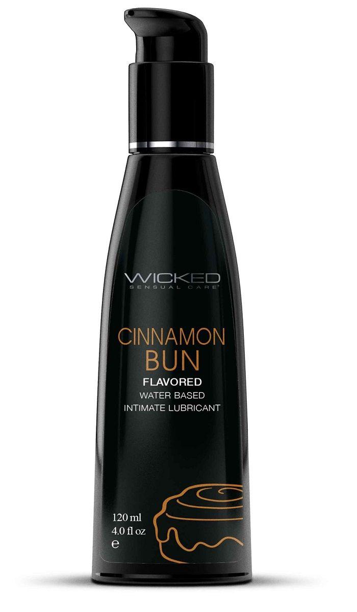 Лубрикант WICKED AQUA Cinnamon Bun с ароматом булочки с корицей - 120 мл.