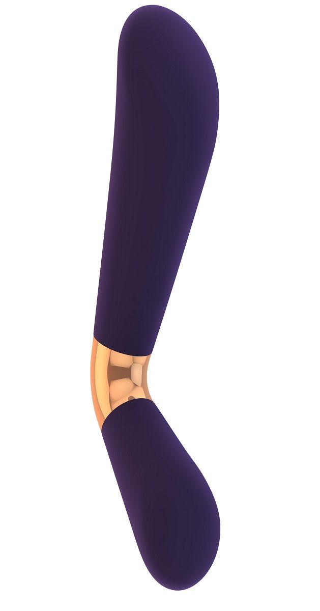 Фиолетовый силиконовый вибратор Mellea - 22,1 см. VIVE013PUR от Shots Media BV