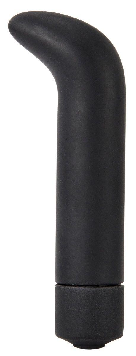 Чёрный вибратор The Gee - 10,5 см.