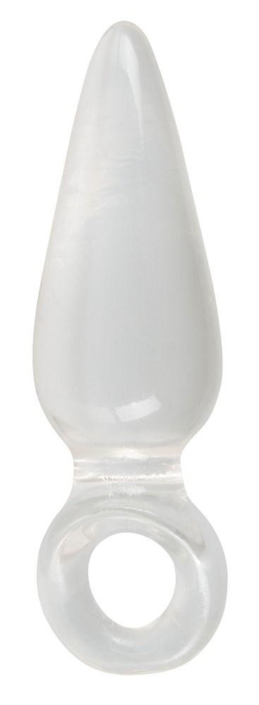 Анальная втулка с колечком на пальчик Finger Plug - 9,5 см.