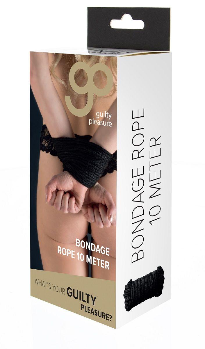 Чёрная хлопковая верёвка Bondage Rope 33 Feet - 10 м.