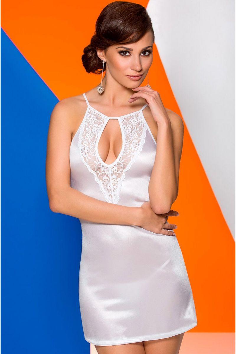 Белая сорочка Catalina с полуоткрытой спинкой