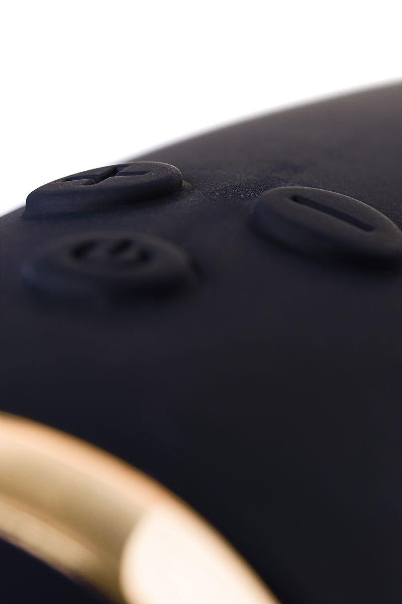 Чёрный вибратор WANAME Thunder с клиторальным отростком - 24,2 см.