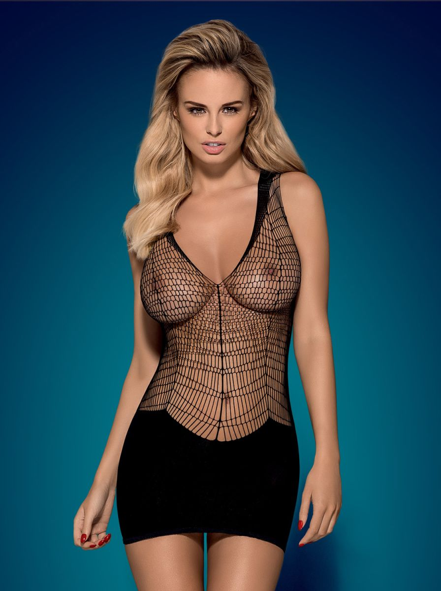 Эффектное платье с полупрозрачной верхней частью