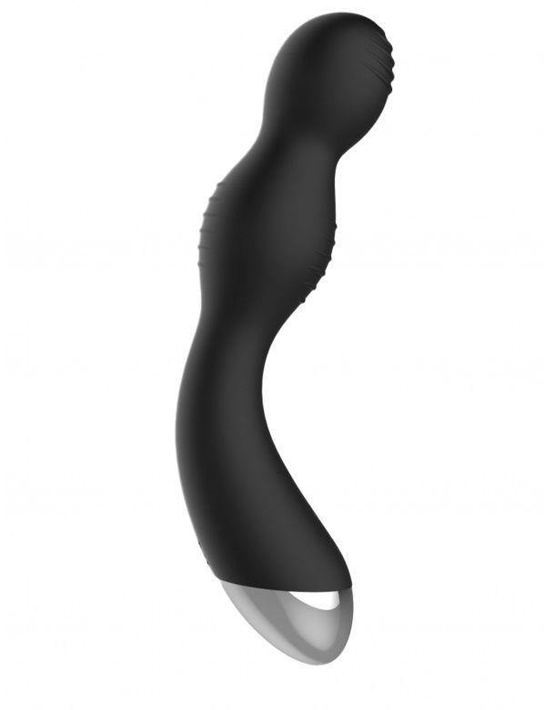 Чёрный вибратор с электростимуляцией E-Stimulation G-spot Vibrator - 19,5 см. ELC002BLK от Shots Media BV