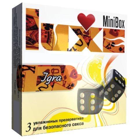 Презервативы Luxe Mini Box  Игра  - 3 шт.