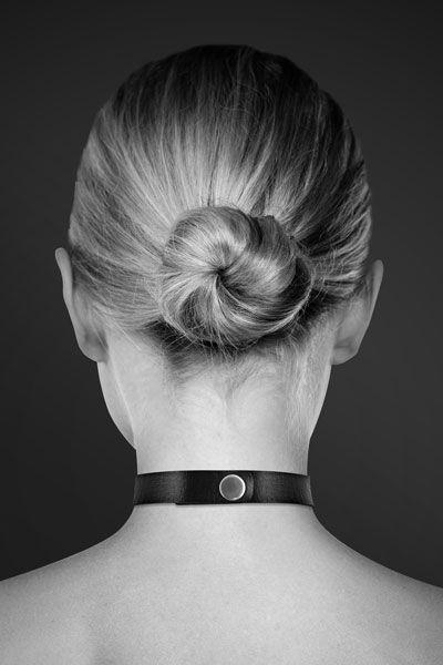 Чёрный чокер с кольцом в форме сердца - фото 166310