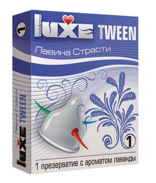 Презерватив Luxe Tween  Лавина страсти  с ароматом лаванды - 1 шт.