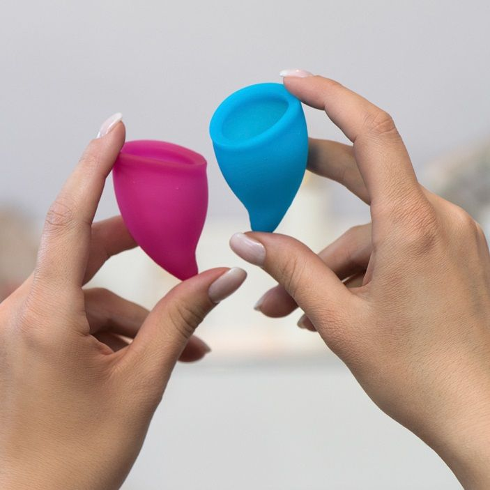 Набор из 2 менструальных чаш Fun cup Size A Kit