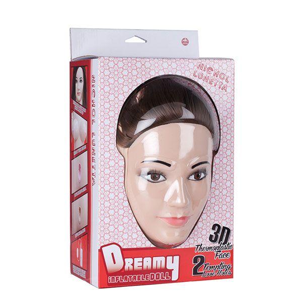 Секс-кукла с 2 любовными отверстиями DREAMY DOLL BULL DOG NICHOL LUNETTA