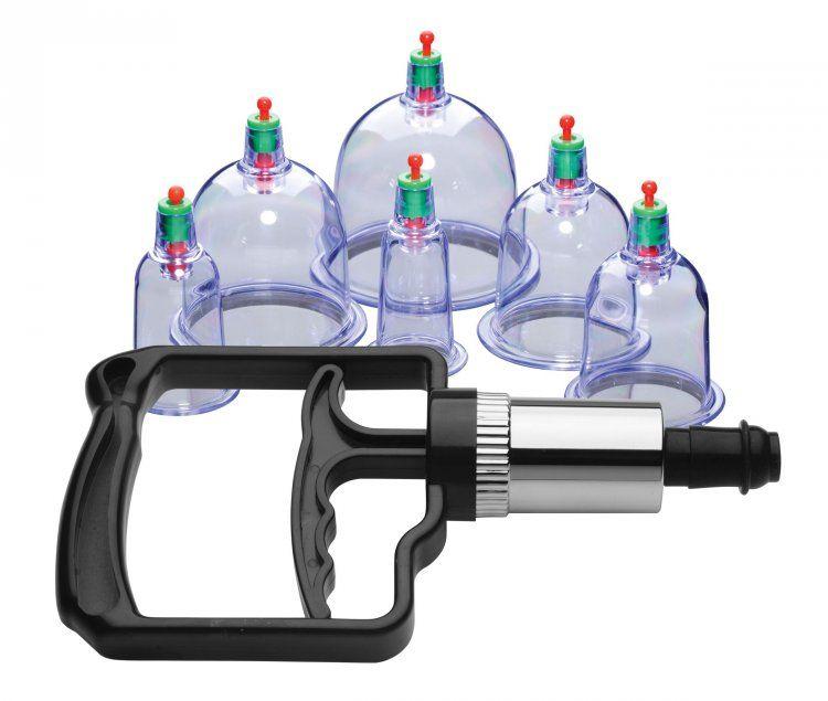 Набор помп для стимуляции Sukshen 6 Piece Cupping Set with Acu-Points