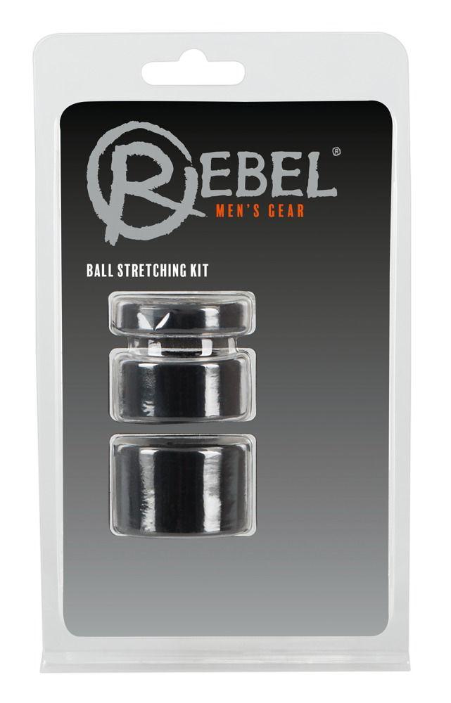 Набор из 3 колец для утяжки мошонки Rebel Ball Stretching Kit