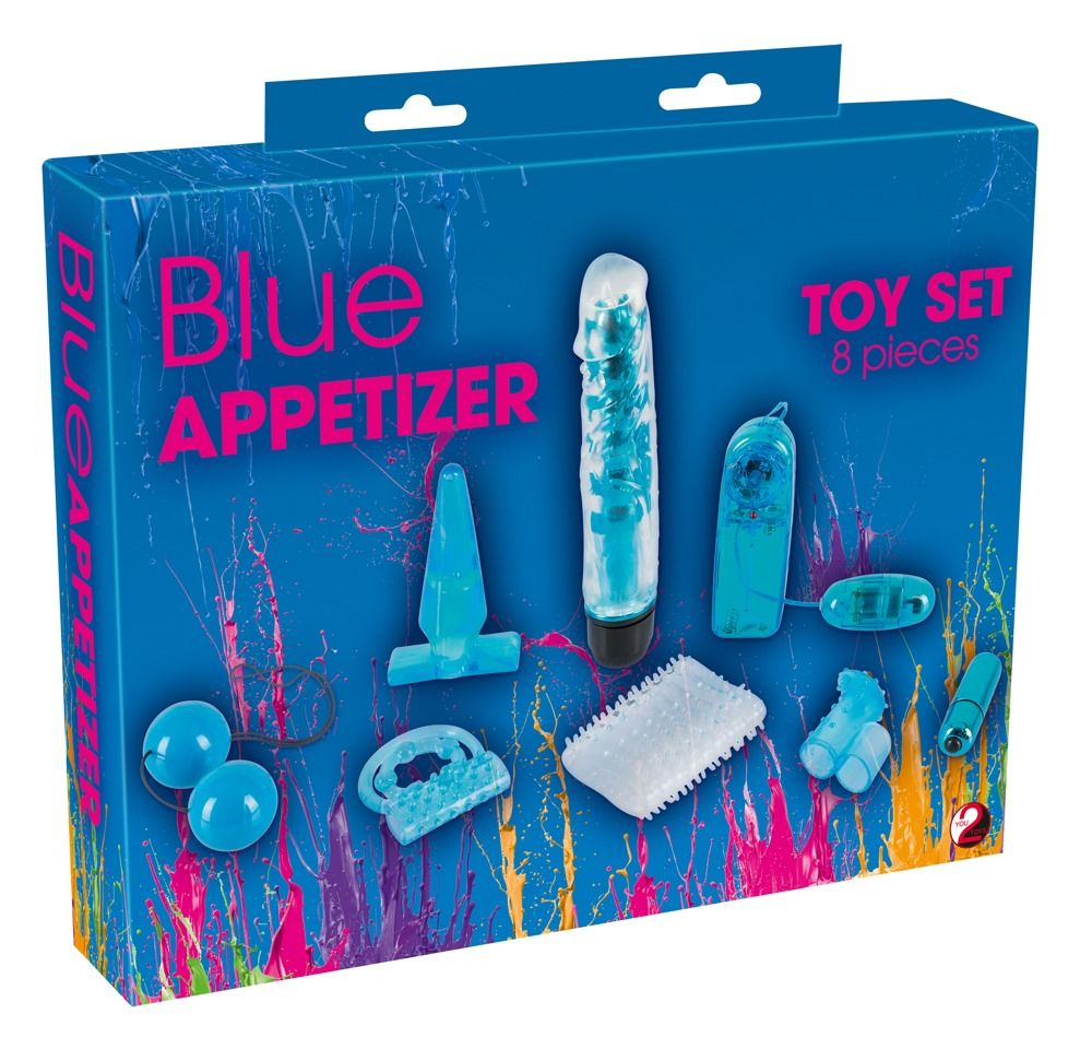 Голубой вибронабор из 8 предметов Blue Appetizer 0592242 от Orion